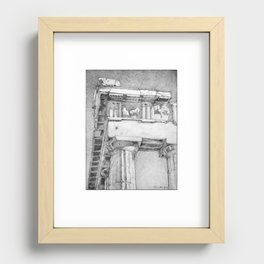 The Northeast Corner of the Parthenon, Athens, Greece Recessed Framed Print