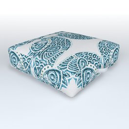 Bluefish Fish India Block Print Boho Outdoor Floor Cushion