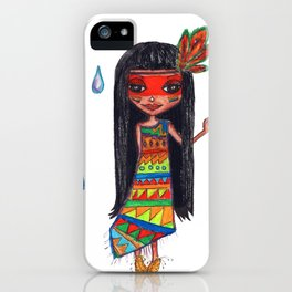 A menina que chovia iPhone Case