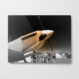 Spitfire Mk 1A aircraft Metal Print