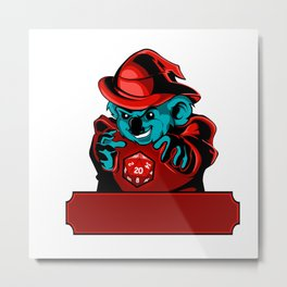 Cartoon koala Wizard Metal Print