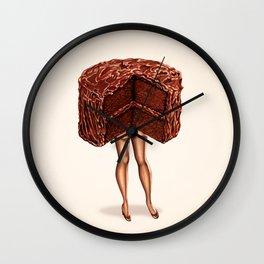 Cake Girl - Devil's Food Wall Clock