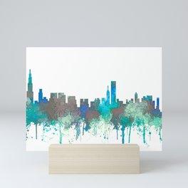 Chicago, Illinois Skyline - SG Jungle Mini Art Print