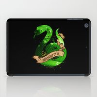 slytherin iPad Cases featuring Slytherin by Markusian