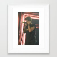 zayn malik Framed Art Prints featuring Zayn Malik by Halle