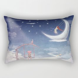 City of children on  fantastic clouds in the sky Rectangular Pillow