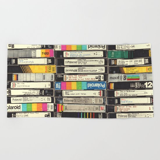 VHS Stack Beach Towel