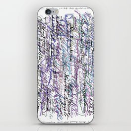 All The Presidents Signatures Blue Rose iPhone Skin