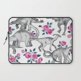 Floral Dino Laptop Sleeve