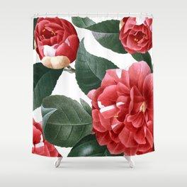 RED FLOWERS - digital Shower Curtain