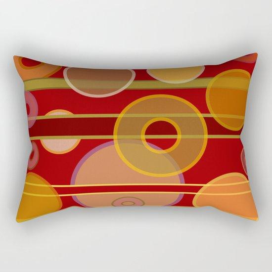 Circles, Lines & Colors #2 Rectangular Pillow