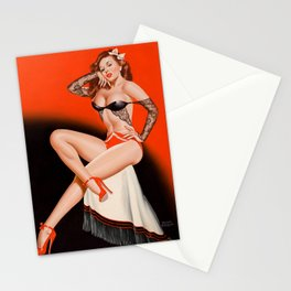 Pin-Up in Black Lace by Peter Driben Stationery Cards