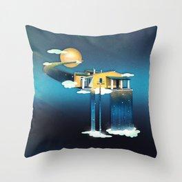 Castle in Heaven Throw Pillow