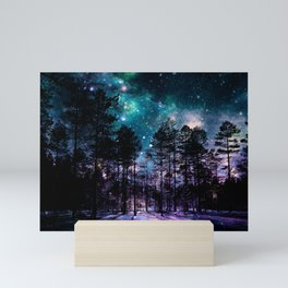One Magical Night... teal & purple Mini Art Print
