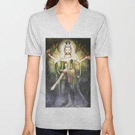 Hindu Durga 2 Unisex V-Neck