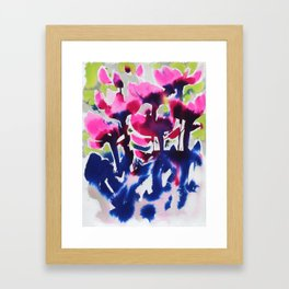 Botanika - Abstract Floral Watercolor Framed Art Print
