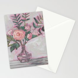 Pops of Hot Pink Florals Stationery Cards