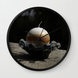 Moon on earth Wall Clock
