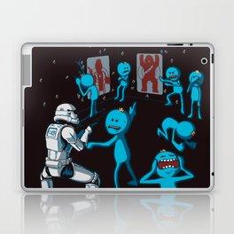 Meeseeks Teaching a Stormtrooper How To Shoot Laptop & iPad Skin