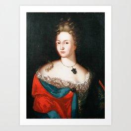 Portrait of Anna Paulsdatter Krefting Art Print