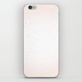 Pink Confetti Falling iPhone Skin