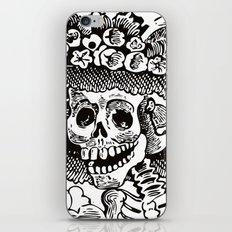 Calavera Catrina | Black and White iPhone & iPod Skin