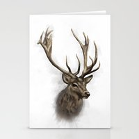stag Stationery Cards featuring stag by emegi