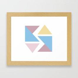 Geometric triangle pastel origami Framed Art Print