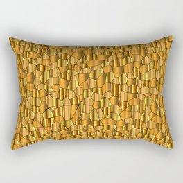 Random Gold Mosaic Background Rectangular Pillow