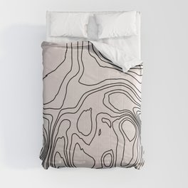Abstract Doodle Lines Stripes Curb Circle Comforters