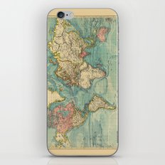 Adventure Awaits (World Map) iPhone & iPod Skin