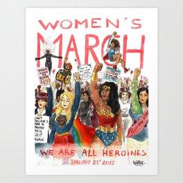 Women's March 2017 Art Print