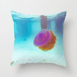 Crown Jellyfish Maldives Throw Pillow
