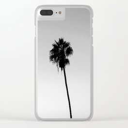 Black and White San Diego Palms - California Clear iPhone Case