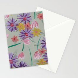 Rain Flowers Stationery Cards