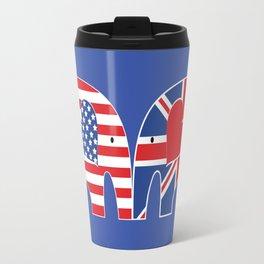 U.S.-U.K. Friendship Elephants Travel Mug