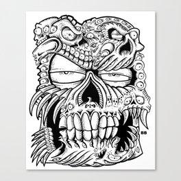 skull a bull Canvas Print