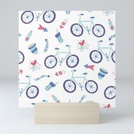 Love riding Pattern Mini Art Print