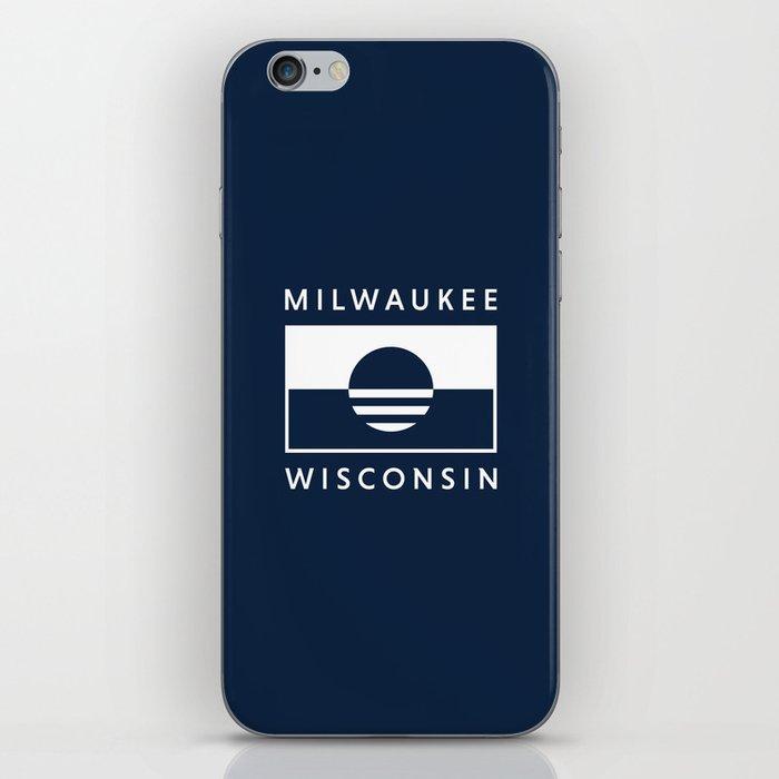 Milwaukee Wisconsin - Navy - People's Flag of Milwaukee iPhone Skin