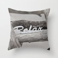 relax Throw Pillows featuring Relax by LebensART Photography