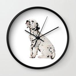 Cute Dalmatian 9 Wall Clock