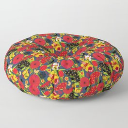 Chinese Cultural Icons Pattern Floor Pillow