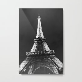 retro eiffel tower  Metal Print