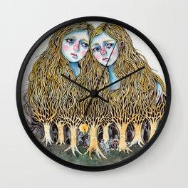 Goblin Market - illustration of poem by Christina Rossetti Wall Clock