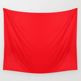 Bright Italian Racing Car Red Color Wall Tapestry