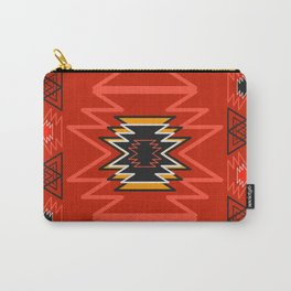 Ethnic lines in red Carry-All Pouch