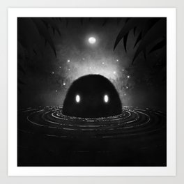 The Creature from the Black Swamp Art Print