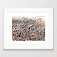 yoga Framed Art Prints featuring Yoga by Emma Lin