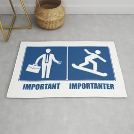 Work Is Important, Snowboarding Is Importanter Rug