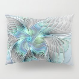 Abstract Butterfly, Fantasy Fractal Art Pillow Sham